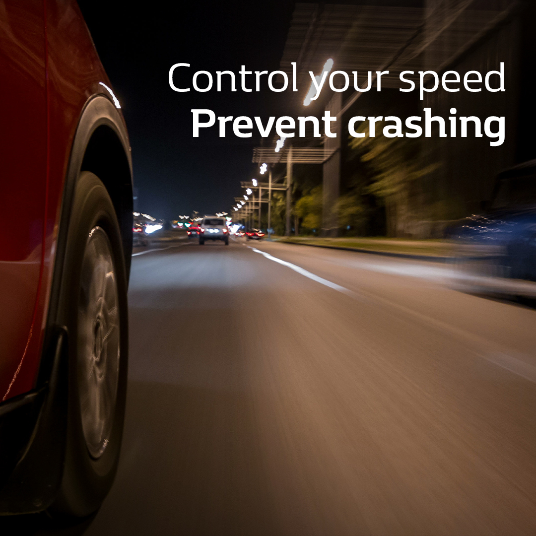 Control your speed, prevent crashing
